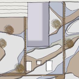 Dachbegrünung, Entwurfsskizze